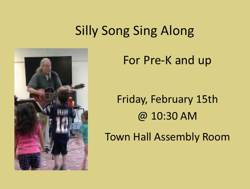 Silly Song Sing Along w/ Edward Leonard (Pre-K & Up) 2/15